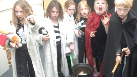 Youngsters dressed as witches and wizards for a workshop and play to bring the curtain down on the W