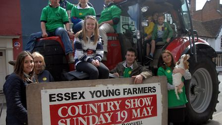 Samuel and Charlotte Darts, eight and five respectively, joined Megan Butt in the tractor cab, while