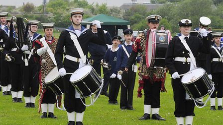 The Sea Cadets Marching Band at last year's festival