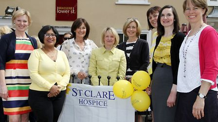 Saira Hamilton (second left) with ladies at the St Clare Hospice fundraising lunch