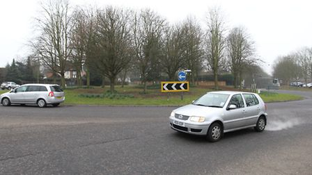 Toxic gases have been found in the area near the roundabout, caused by cars and lorries