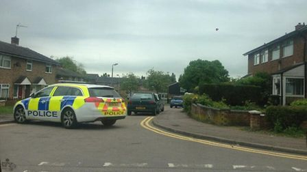 Armed police were called to an address in Darwin Road
