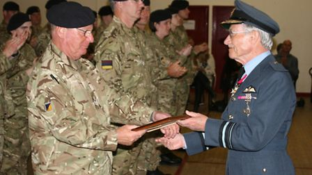Soldiers from the Hitchin-based TA centre were commended