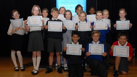 All the pupils who took part