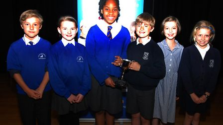 Rudy Clifton 11, Katie Lane-Griffin 10, Damilare Haastrup 11 from Graveley school, William Ross 10,