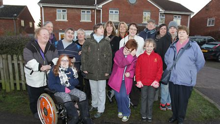 The action group pictured outside Wilbury House in Letchworth GC