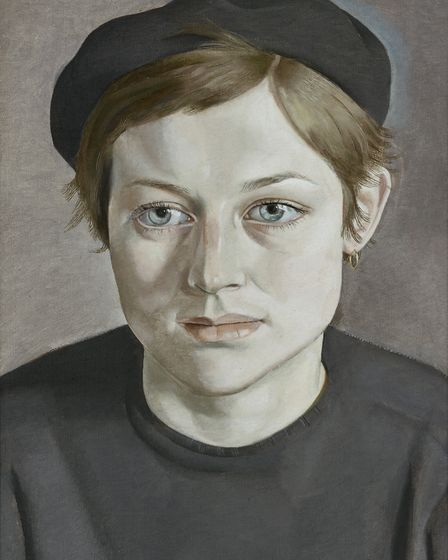 872908 Girl with Beret, 1951-52 (oil on canvas) by Freud, Lucian (1922-2011); 35.5x25.6 cm; Manchest