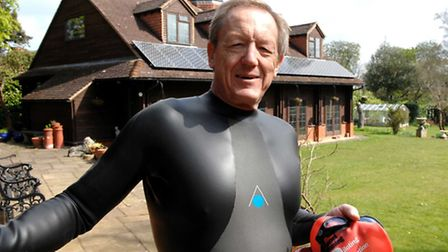 Andy Nation outside his pool house at his Knebworth home