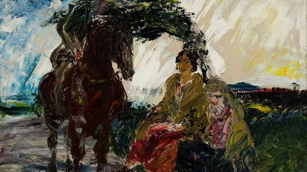 White Shower, by Jack B Yeats, 1928. Photo: Courtessy of The Model, home of The Niland Collection.