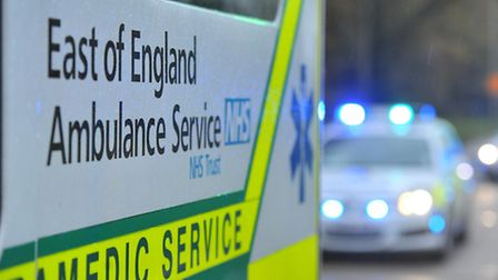 A woman was taken to Lister Hospital in Stevenage with neck injuries