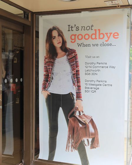 The sign which stated the store was closing