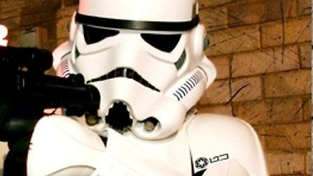One of UK Garrison's Stormtroopers, who will be at the event