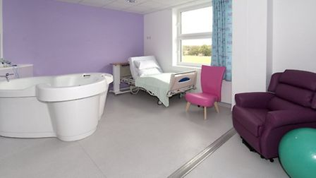 One of the delivery suites with a birthing pool