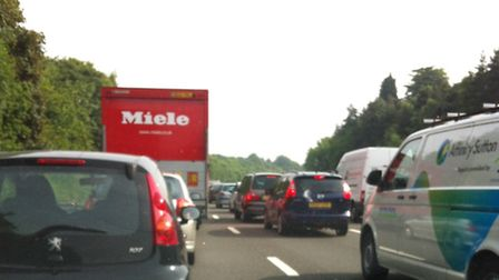 Traffic on the A1(M) this morning