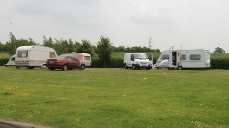 Gipsies at Baldock Service station have been asked to leave by tonight