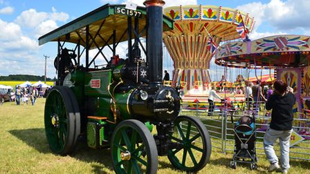 A steam engine by the traditional fairground. © Photos courtesy of Geoff Sheed Graphics