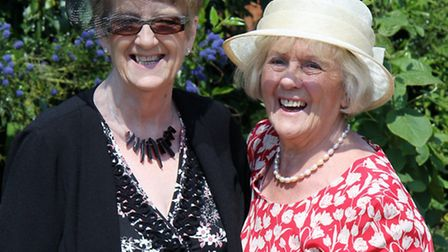 OFF TO THE GARDEN PARTY: Jan Final (left) and Betty Newton.
