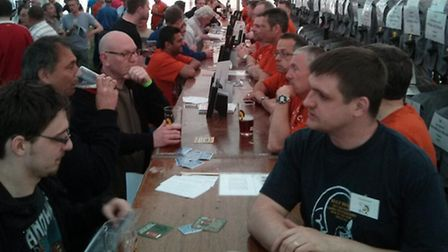 Crowds at the beer festival. Picture: North Herts CAMRA