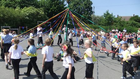 Children at St Mary's Junior School took part in a Folk Festival on Friday