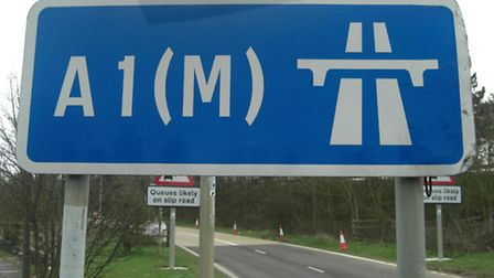 The northbound entry and southbound exit of the A1(M) junction 7 are being closed