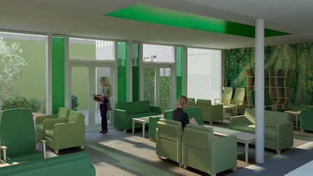 An artist's impression of the waiting room
