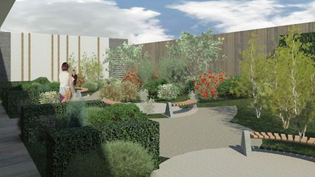 An artist's impression of the treatment area garden