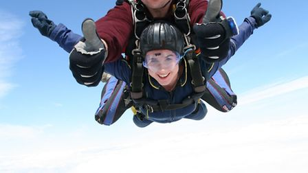 Charlotte Golding during her skydive.