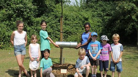Planting the Wimbish time capsule