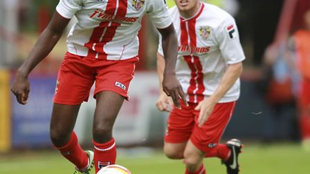Stevenage look set to sell Lucas Akins for an undisclosed fee. Photo: Harry Hubbard