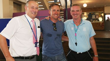 Ian Poulter with his former teachers Graham Parry (left) and Steve Green