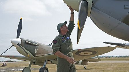 Final preparations for the Flying Legends Air Show are under way. Pictures: IWM