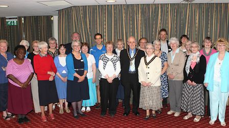 Stevenage Carers Group with the mayor of Stevenage Jack Pickersgill and his wife Margaret and some c