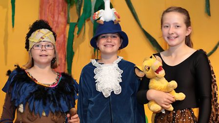 Martha Reilly, Jess Stephenson and Melissa James, dressed in costume