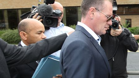 Paul Gascoigne arrives at Stevenage Magistrates' Court, where he pleaded guilty to assault