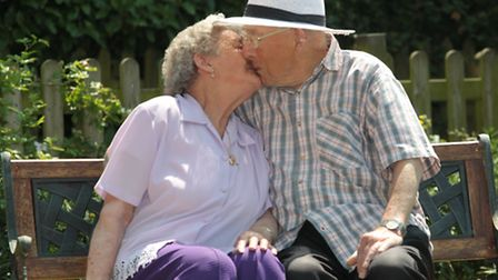 Ernest and Jean Cooper, celebrate their 70th wedding anniversary at home