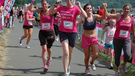 VICTORY: The end is in sight for these runners. Pic: runherts.com's Bernie Barnaby