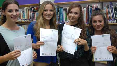 From left, Lucy Hampson, Megan Downs, Lydia White and Grace Moorhouse.