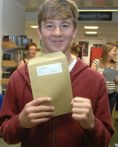 Sixteen-year-old Scott Bunting was pleased with his set of results.