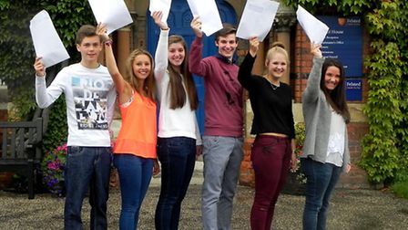 Ed Lucas, Isabelle Moore, Sarah Lewis, Sam Mitchell, Grace Prior and Emilia Blyth with their results