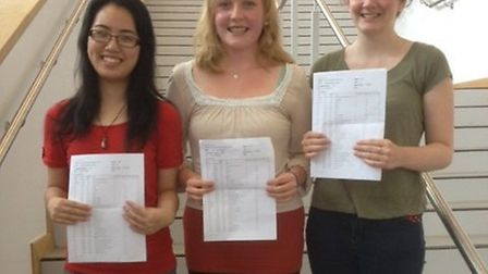 Top performing Nobel students Michelle Wan, Holly Ingram and Emma Rodgers