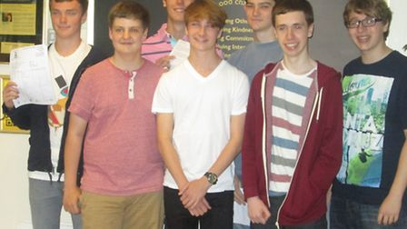 Pupils from The Bishop''s Stortford High School with their results