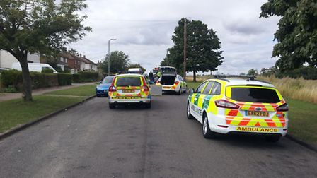 Police at the scene. Pic: Lewis Burley