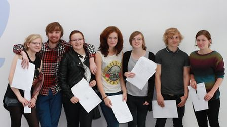 Students at Marriotts School celebrate getting their A-level results and a place at university