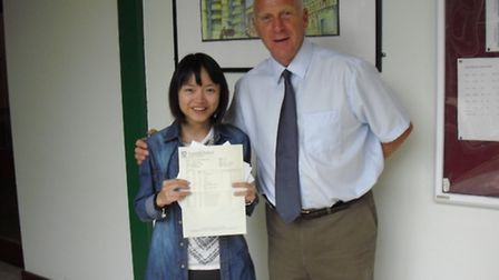 Jenny Zheng achieved two A*s and an A and will study medicine at Cambridge