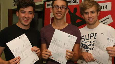 A-level results Saffron Walden County High School. August 15, 2013. Photo by Michael Boyton Pic