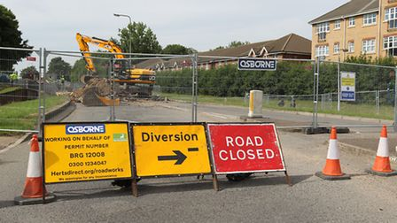An Arriva bus driver has criticised the management of diversion routes in place due to roadworks in