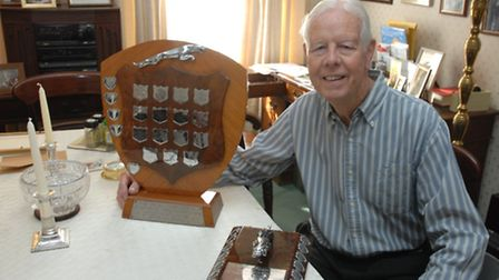 Nigel Butterworth with his awards