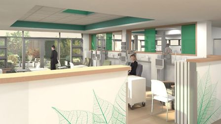 Artist impression of the treatment area at Lister Hospital