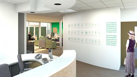 Artist impression of the entrance to Lister Hospital's new cancer unit