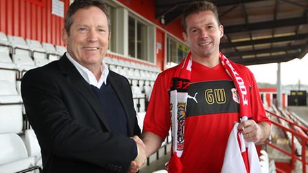 Stevenage FC chairman Phil Wallace - pictured with manager Graham Westley (right) - has dismissed th